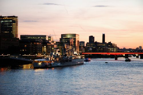 london the waterfront twilight