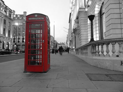 london phone booth english