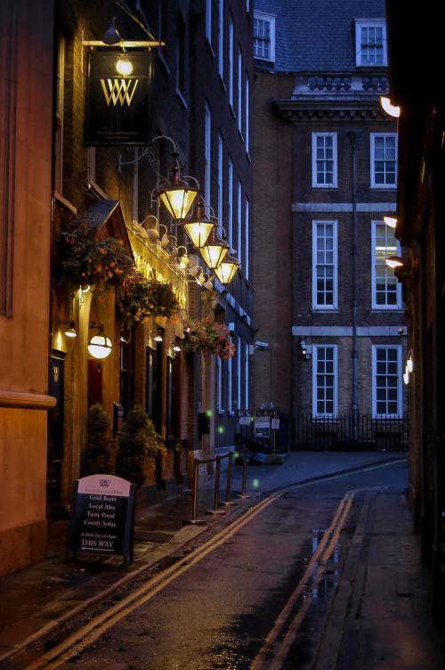 london streets lights