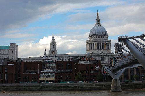 london millennium bridge st paul's cathedral