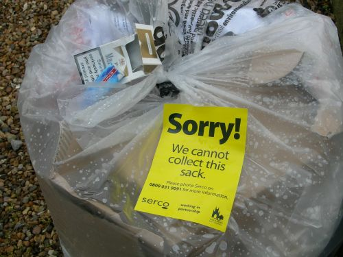 london cleaning trash