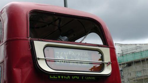 London Double Decker Bus Exit