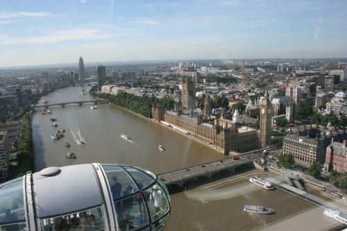 london eye a view of london river thames