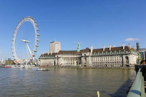 london eye skyline england