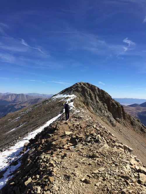 lone man hiking adventure