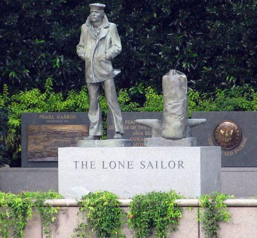 lone sailor statue sailor statue