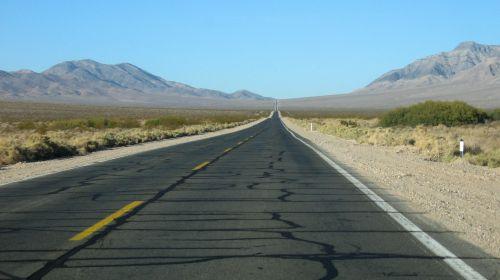 Lonely Highway Into Horizon