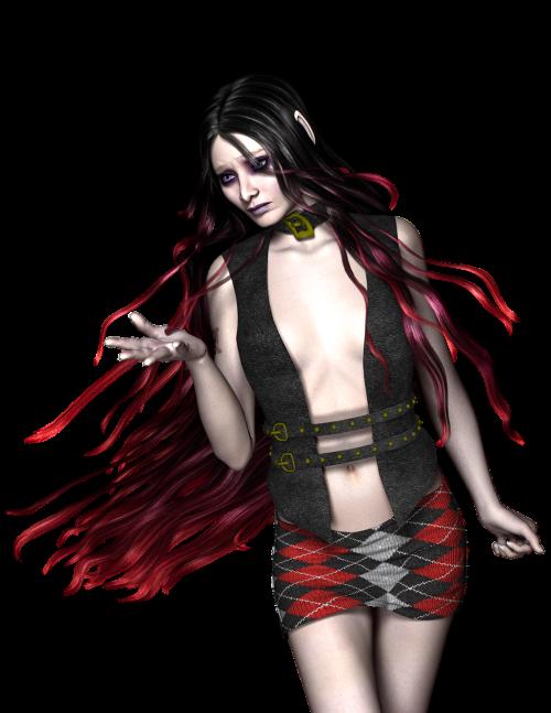 long hair dark