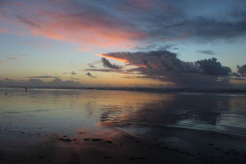 long beach peninsula ocean at sunset washington coast