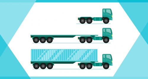 long cargo truck vehicle car