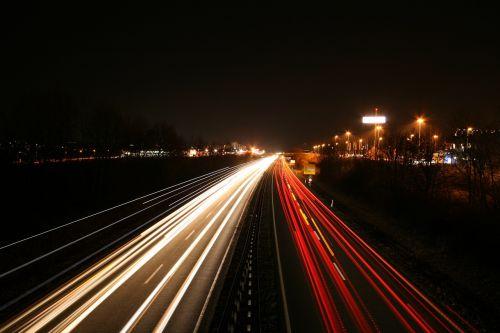 long exposure autos highway
