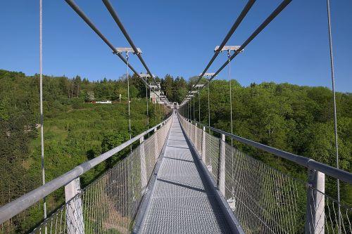 longest pedestrian suspension bridge rappbodetalsperre world record