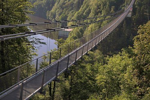 longest pedestrian suspension bridge rappbodetalsperre resin