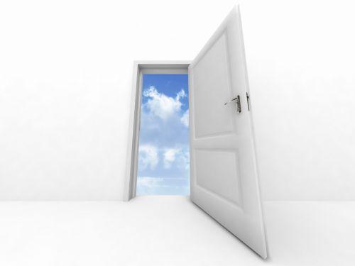 Looking Out A Door