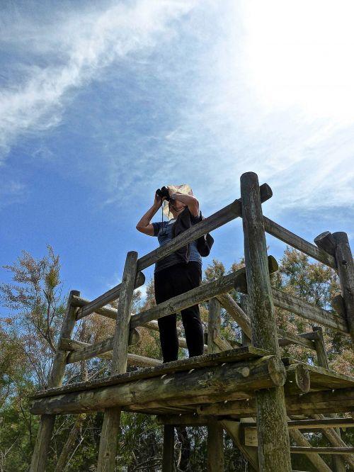 lookout binoculars view