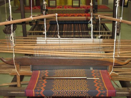 loom brocade silk