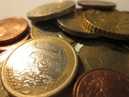 loose change euro coins
