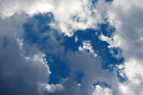 Loose Clouds In Blue Sky
