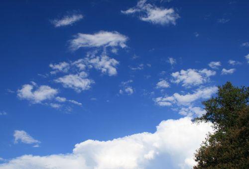 Loose White Clouds Drifting Around