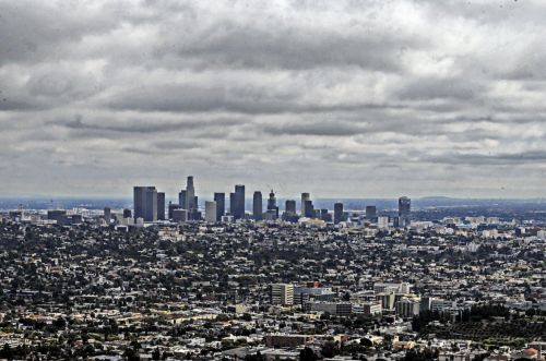 Los Angeles Painted Cityscape