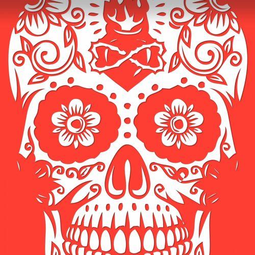Los Muertos On Red