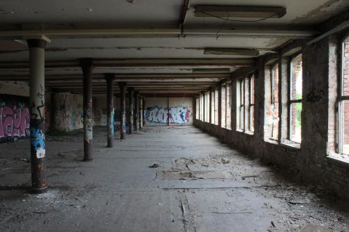 lost places abandoned building void hall