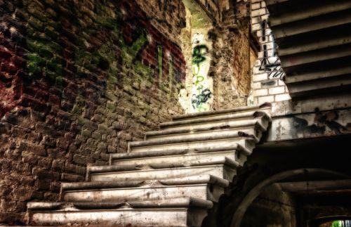 lost places stairs home