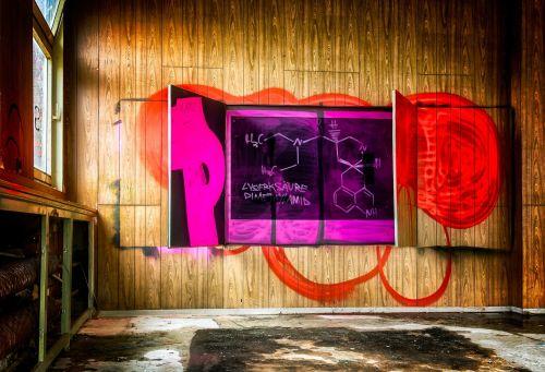 lost places graffiti board