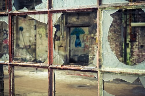 lost places  window  abandoned