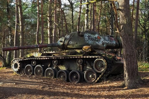 lost places  panzer  wreck