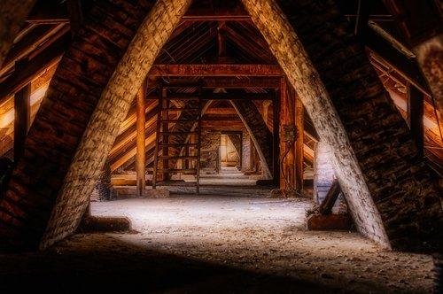 lost places  attic  architecture