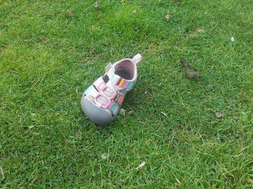 lost shoe pink shoe childs shoe