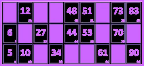 loto grid number