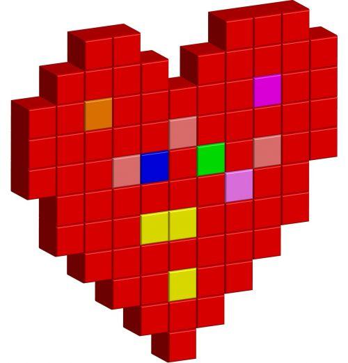 heart pixels icons