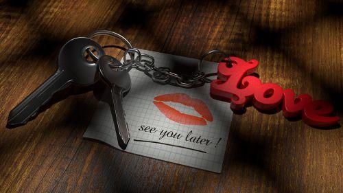 valentine's day love key