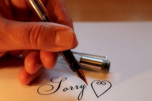love heart sorry