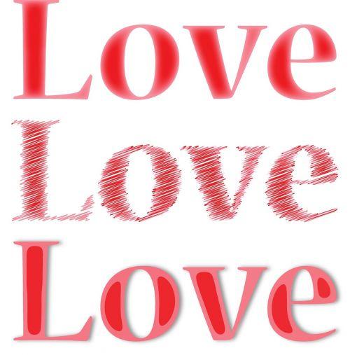 love text type
