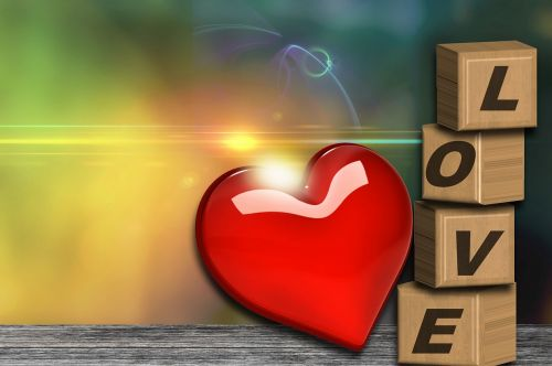 love heart abstract