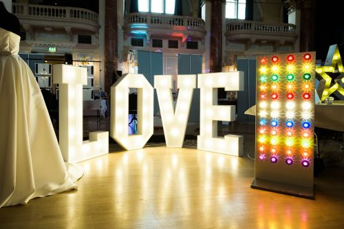 love love letters illuminated sign