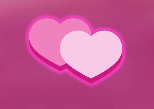love heart double heart
