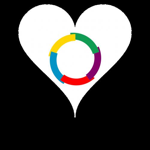 love heart flag
