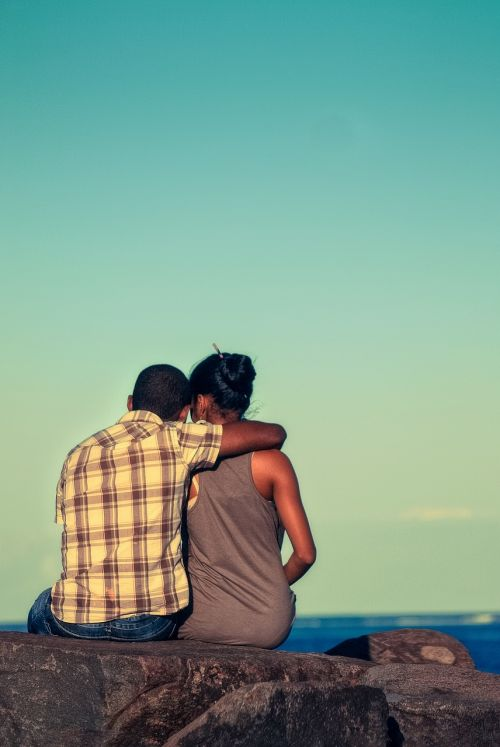 love couple beach