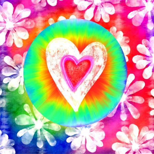 love hippy rainbow