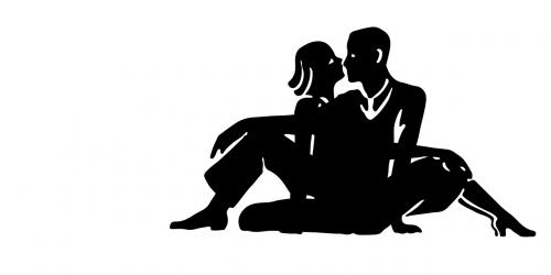 love couple silhouette