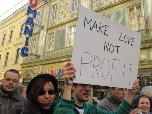love demonstration profit