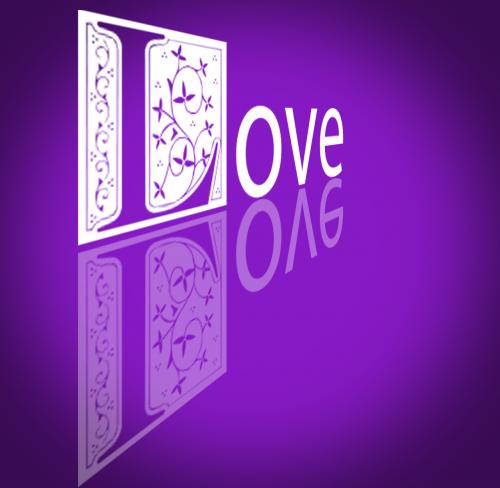 love text vignette