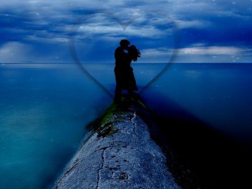 love couple kissing