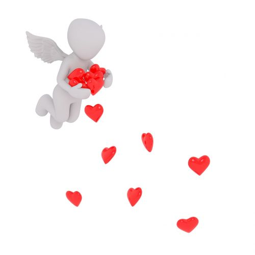 love heart angel