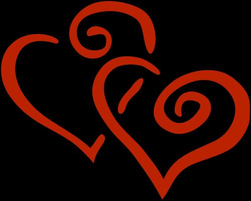 love heart double