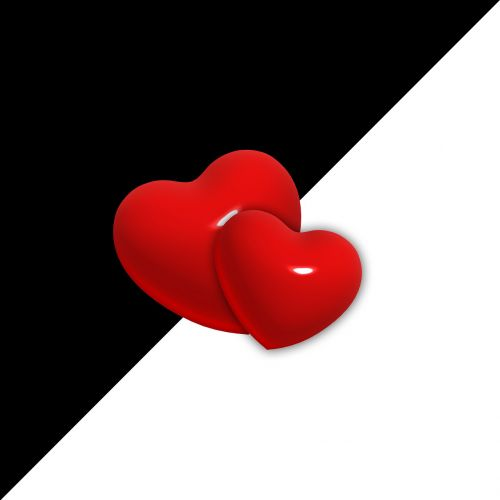 love heart opposites